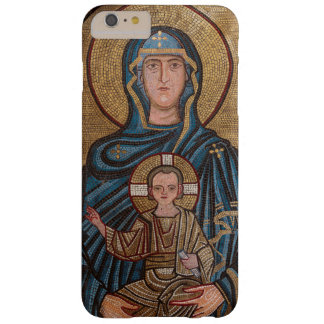 Capa Barely There Para iPhone 6 Plus Virgem Maria e mosaico de Jesus