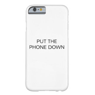 CAPA BARELY THERE PARA iPhone 6 PNHA O TELEFONE PARA BAIXO