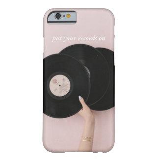 Capa Barely There Para iPhone 6 Pnha seus registros sobre o caso de IPhone 6/6S