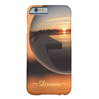 Capa Barely There Para iPhone 6 Por do sol sobre a bola de cristal da água - sonho