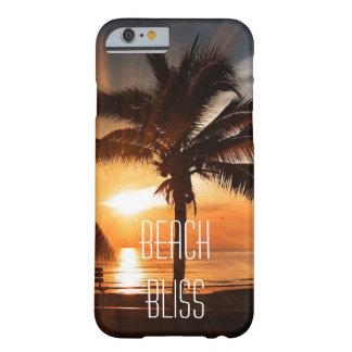Capa Barely There Para iPhone 6 Por do sol tropical e palmeiras da felicidade da