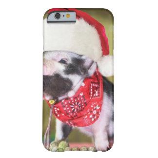 Capa Barely There Para iPhone 6 Porco Papai Noel - porco do Natal - leitão