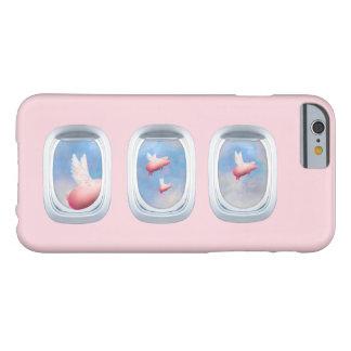 Capa Barely There Para iPhone 6 Porcos do vôo através da janela do avião