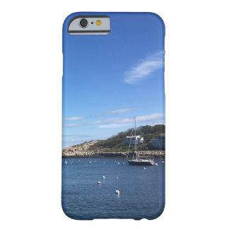 Capa Barely There Para iPhone 6 Porto de Nova Inglaterra com barco
