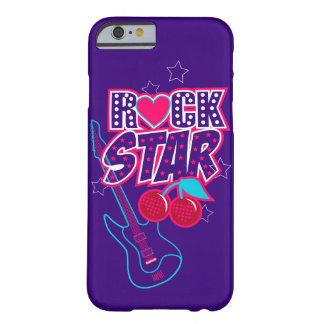 Capa Barely There Para iPhone 6 Poster da estrela do rock com as cerejas da