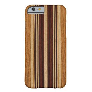 Capa Barely There Para iPhone 6 Prancha da madeira de Koa do falso de Nalu Lua