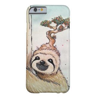 Capa Barely There Para iPhone 6 Preguiça animal bonito com casa na árvore dos
