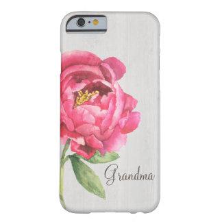 Capa Barely There Para iPhone 6 Presente do dia das mães do exemplo da peônia da