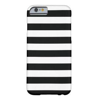 Capa Barely There Para iPhone 6 (Preto & branco | horizontal) customizável