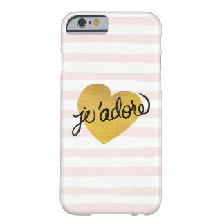 Capa Barely There Para iPhone 6 Preto das citações | de J'adore & coração do ouro