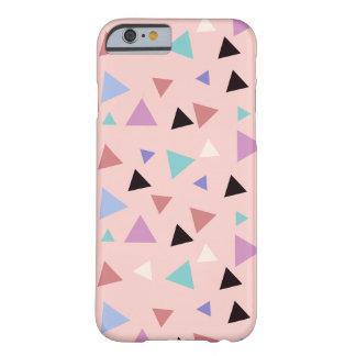 Capa Barely There Para iPhone 6 Preto roxo da hortelã do rosa geométrico elegante