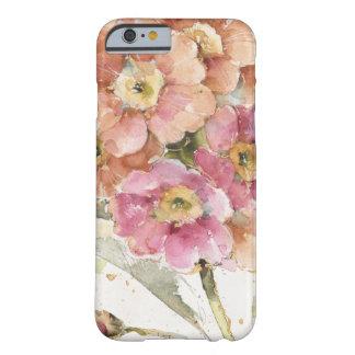 Capa Barely There Para iPhone 6 Prímula cor-de-rosa e alaranjada