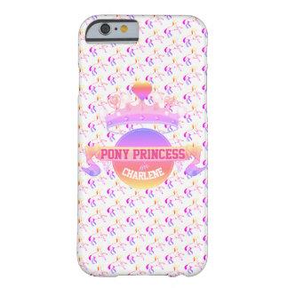 Capa Barely There Para iPhone 6 Princesa cor-de-rosa e roxa do pônei