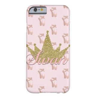 Capa Barely There Para iPhone 6 Princesa Ouro Brilho Coroa Glam da cisne