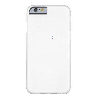 Capa Barely There Para iPhone 6 Pulsação do coração do Semicolon da consciência da