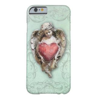 Capa Barely There Para iPhone 6 Querubim barroco do vintage com coração
