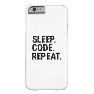 Capa Barely There Para iPhone 6 Repetição do código do sono