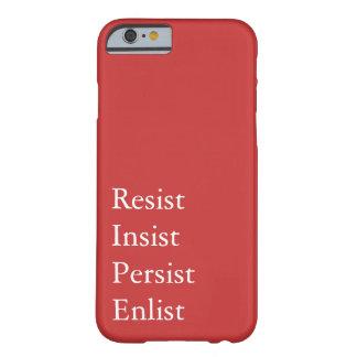 Capa Barely There Para iPhone 6 Resista, insista, persista, recrute - a feminista