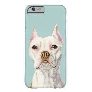 """Capa Barely There Para iPhone 6 Retrato branco """"orgulhoso e alto"""" do cão do"""