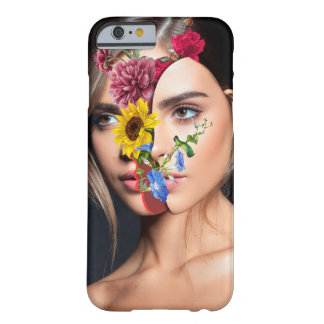 Capa Barely There Para iPhone 6 Retrato de Flowerful