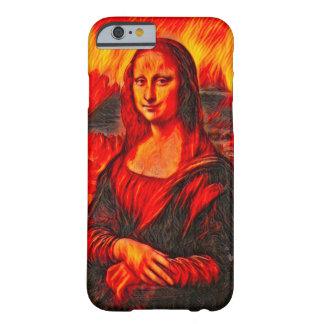 Capa Barely There Para iPhone 6 Retrato do estilo do inferno de Mona Lisa Dante