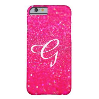 Capa Barely There Para iPhone 6 Rosa brilhado do cobrir do telefone