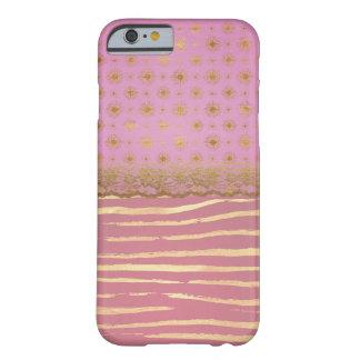 Capa Barely There Para iPhone 6 Rosa e folha de ouro do falso