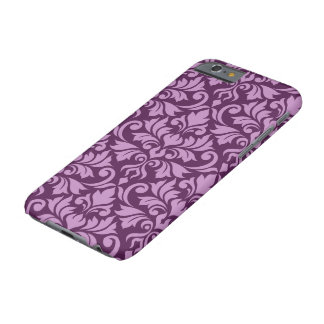 Capa Barely There Para iPhone 6 Rosa grande do teste padrão do damasco do Flourish