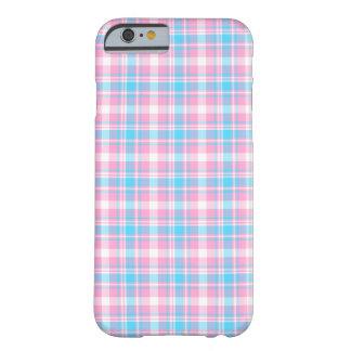Capa Barely There Para iPhone 6 Rosa, teste padrão azul e branco da luz - da