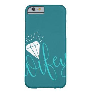 Capa Barely There Para iPhone 6 Roteiro & diamante de turquesa de Wifey