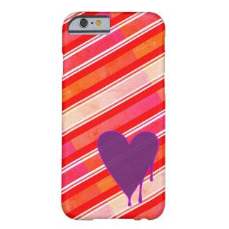 Capa Barely There Para iPhone 6 Roxo de derretimento do coração