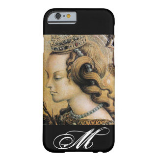 Capa Barely There Para iPhone 6 Santo Catherine do monograma de Alexandria