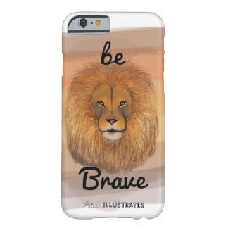 Capa Barely There Para iPhone 6 seja caso bravo do iphone 6/6s do leão