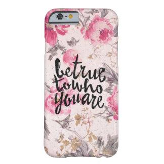 Capa Barely There Para iPhone 6 Seja verdadeiro a o senhor mesmo floral