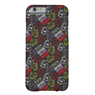 Capa Barely There Para iPhone 6 Senhorita pequena Mau teste padrão preto, vermelho