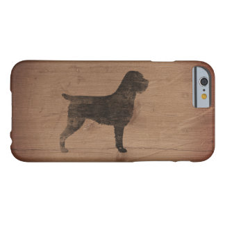 Capa Barely There Para iPhone 6 Silhueta apontar Griffon Wirehaired rústica