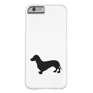 Capa Barely There Para iPhone 6 Silhueta do Dachshund