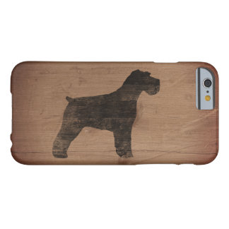 Capa Barely There Para iPhone 6 Silhueta do Schnauzer rústica
