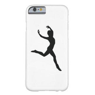 Capa Barely There Para iPhone 6 Silhueta elegante do preto da dança do balé