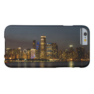 Capa Barely There Para iPhone 6 Skyline Chicago Pano da noite