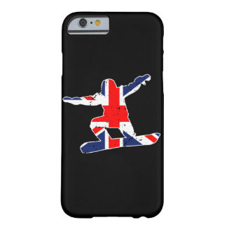Capa Barely There Para iPhone 6 SNOWBOARDER de Union Jack (branco)