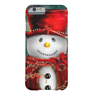 Capa Barely There Para iPhone 6 Snowmans bonitos - ilustração do boneco de neve