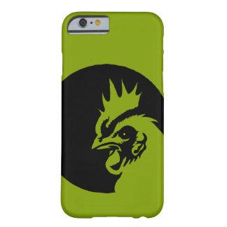 Capa Barely There Para iPhone 6 Somente galo verde-maçã da cabeça da cor sólida