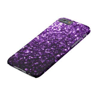 Capa Barely There Para iPhone 6 Sparkles roxos escuros bonitos do brilho