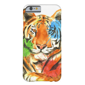 Capa Barely There Para iPhone 6 Splatter do tigre