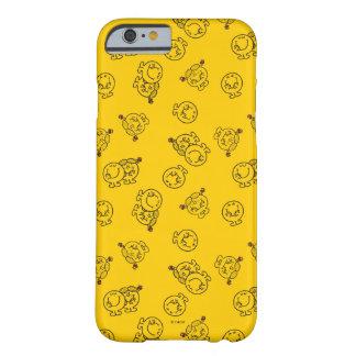 Capa Barely There Para iPhone 6 Sr. Feliz & teste padrão amarelo pequeno da