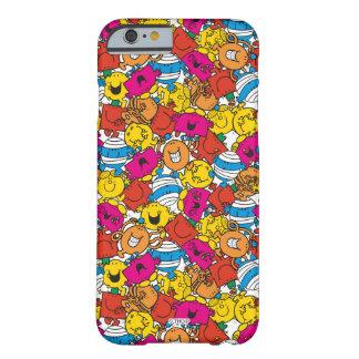 Capa Barely There Para iPhone 6 Sr. Homem & caras de sorriso brilhantes pequenas