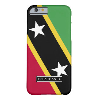 Capa Barely There Para iPhone 6 St. Kitts e bandeira de Nevis