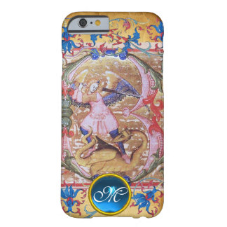 Capa Barely There Para iPhone 6 St Michael a antiguidade do monograma do arcanjo
