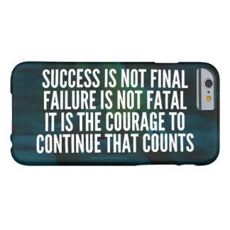 Capa Barely There Para iPhone 6 Sucesso, falha, coragem - exercício inspirador